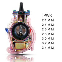 Multicolored 21mm 24mm 26mm 28mm 30mm 32mm 34mm PWK Carburetor Carb for Scooters