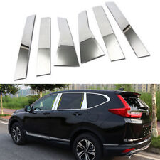For Honda CRV 17 Chrome ABS Car Door Window Pillar Trim Cover 6pcs