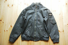 "Vintage 80's Grey German Luftwaffe Pilots Bomber Flight Jacket 50"" XXL"