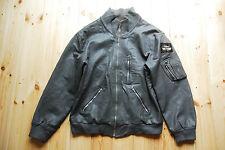 "Vintage 80's Grey German Luftwaffe Pilots Bomber Flight Jacket 50"" XXL"