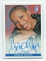 2005 WNBA Autograph CC1 Cynthia Catchings Houston Comets MVP HOF