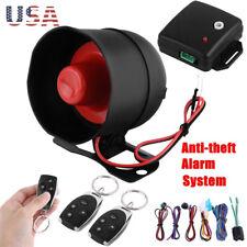 1 Way Car Buzzer Burglar Alarm Keyless Entry Siren Security System W/ 2 Remote