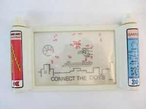 Etch A Sketch Activity Center Scroll w 10 Games Toy Vintage 1981 OHIO ART