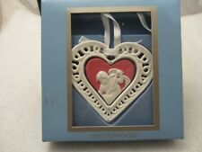 Wedgwood Red/White Jasperware Christmas Ornament 2006 Our First Christmas