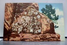 Colorado CO Manitou Springs Cliff Dwellings Indian Petroglyphs Postcard Old View
