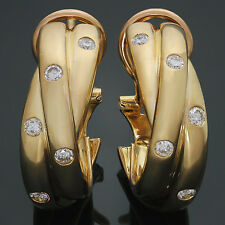 CARTIER Trinity Diamond 18k Yellow Gold Wrap Earrings