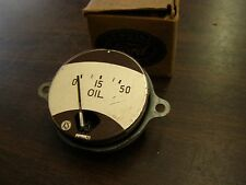 NOS 1939 Ford Car + Truck Dash Oil Pressure Gauge Indicator