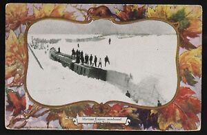 Maritime Express snowbound Nova Scotia Patriotic Warwick -train / railroad 1905