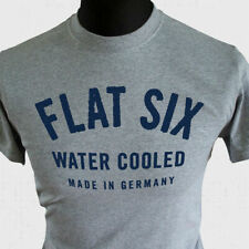 Flat Six T Shirt Water Cooled Made In Germany 911 997 996 992 991 Boxer Grey Blu