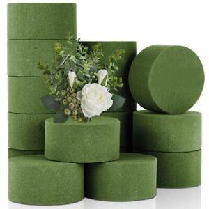 4 PCS Round Dry Floral Foam Blocks Green Styrofoam Blocks for Artificial Flower