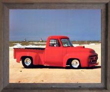 Ford F-100 Harley Koopman Vintage Pickup Truck Wall Decor Art Framed Picture