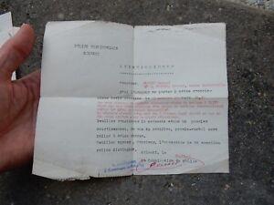 CONGO POLICE PASS KOLWEZI  1956