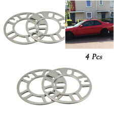 4PCS 5mm Alloy Aluminum Car Wheel Spacers Adaptor Shims Plate 4/5 Stud Perfect
