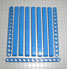 LEGO Technic - 10x Lochbalken Lochstange Liftarm beam 1x13 blau / blue 41239