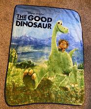 """Disney Pixar 'The Good Dinosaur' Soft Throw Blanket 38""""x 47"""" Toddler Size EUC!"""