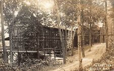 Real Photo Postcard Forest Inn at Silver Bay in Lake George, New York~109894