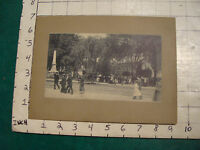vintage EARLY mounted photo print: Monument Square & Statue Victory Merrimack st