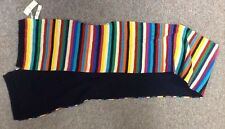 NWT knit TALBOTS Striped SCARF (cotton,nylon,rayon) WINTER multi-color GIFT