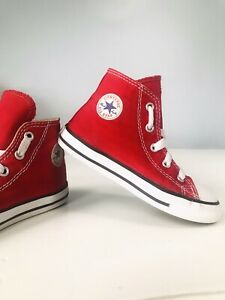 CONVERSE Child sz US 9 High top RED Toddler Sneakers EXCELLENT Condition!