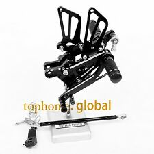 For Honda CBR600 F4i  2001-2006 Black CNC Adjustable Rearset Footpegs Rear Set