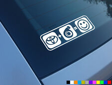 TOYOTA PLUS BOOST EQUALS SMILES CAR STICKER FUNNY SUPRA MR2 STARLET GLANZA V