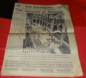Original Newspapers relating to the Coronation of Queen Elizabeth II