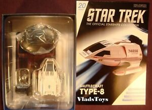 Type-8 Shuttle USS Voyager Eaglemoss Star Trek Shuttlecraft Issue #20 w/Magazine
