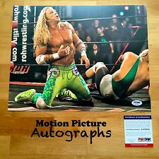 MICKEY ROURKE SIGNED 11X14 PHOTO PSA DNA COA THE WRESTLER AUTOGRAPH