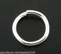 W09 600 PCs Silver Plated Open Jump Rings 6x0.9mm Findings