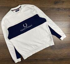 Men's Vintage Fred Perry Sweatshirt Big Logo size M