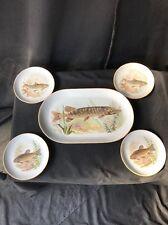 Vintage Fish Platter Set