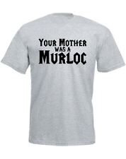 Brand88 - Your Mother Was A Murloc, Mens Printed T-Shirt