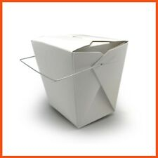 450 x ECO FRIENDLY WIRE HANDLE FOOD PAIL 16oz Chinese Takeaway Noodle Box 475ml