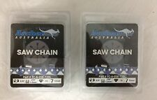 """2 Pack 20"""" Archer Chainsaw Chain 3/8"""" FULL CHISEL .058 Gauge 72 DL drive links"""