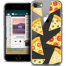 "Carcasa Cristal Gel para iPhone 8 (4.7"") Extra Fina Flexible Foodie Pizza"