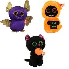 "Set of 3 TY Beanie Boos Halloween 6/"" GHOULIE SKELTON GRINNER Ghoul Plush MWMTs"