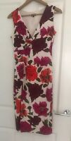 Phase Eight Floral Ladies Women Sleeveless Stretchy  Evening Party Dress Size 12