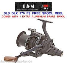 DAM QUICK SLS DLX 970FS FREE SPOOL REEL BIG PIT CARP ROD BAIT FISHING RUNNER
