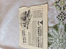 m11b ephemera 1960 advert bassett lowke northampton build a railway in garden