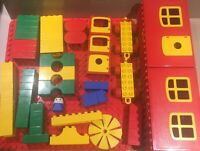 Lego Duplo Vintage 80s House Building Set Bundle Lot Base Plate