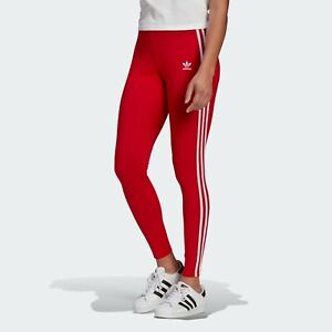 Adidas Women's Adicolor Classics 3-Stripes Tights Scarlet GN8076 f