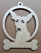 Rat Terrier dog ornament wooden Christmas Gift D-67