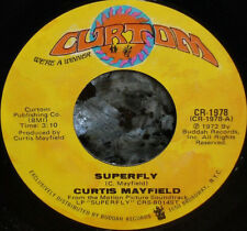 """*<* CURTIS MAYFIELD '72 FILM CLASSIC """"SUPERFLY"""" CLEAN M- GEM TOP 10 HIT SOUL 45!"""
