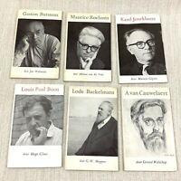 1950 Vintage Belgian Libri Dutch Letteratura Lode Baekelmans Louis Paul Boon