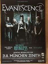 EVANESCENCE + THE PRETTY RECKLESS 2011 MÜNCHEN  orig.Concert Poster   A1 xx
