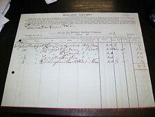 MIDLAND RAILWAY CARRIAGE ACCOUNT WAKEFIELD (WESTGATE) STATION FEB 1914