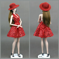 Handmade Red Sexy Evening Dress Clothes For 26-30cm changing dress Doll