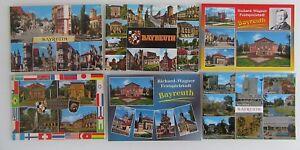 6 x BAYREUTH Bayern color Postkarten Ansichtskarten Lot ungelaufen ab/nach ~1970