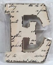 """RED WHITE HOLIDAY CHRISTMAS ORNAMENT LETTER """"F"""" CRAFT MONOGRAM INITIAL NEW"""
