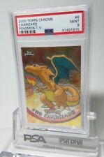 PSA 9 Mint Topps Chrome Charizard 6 2000 TV Animation Holo Pokemon Card
